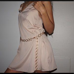 Nude Vintage Slip Satin Slip Dress